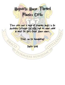 Phonics flash cards Harry Potter Theme