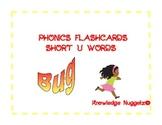 Phonics flashcards Short U words