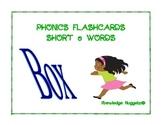 Phonics flashcards short O words