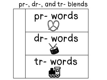 Phonics flip page for in Journals