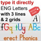Phonics font, DIY Alphabet with standard handwriting, gene