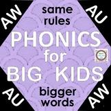 Distance Learning Phonics for Big Kids AU & AW
