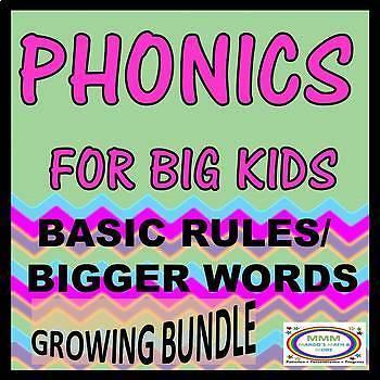 Phonics for Big Kids Growing Bundle