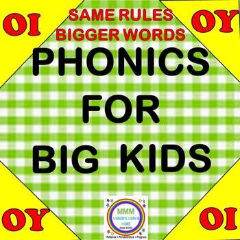 Phonics for Big Kids/ OI, OY Word Activities