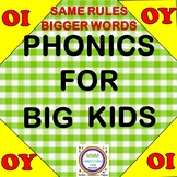 Phonics for Big Kids/ OI, OY Word Activities