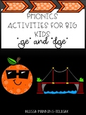 Phonics for Big Kids (ge/dge)