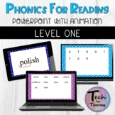 Phonics for Reading Intervention Level 1 Lessons 1-30 PowerPoints with Animation