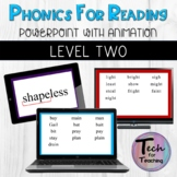 Phonics for Reading Intervention Level 2 Lessons 1-32 PowerPoints with Animation