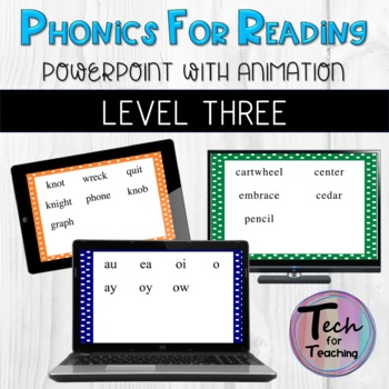 Phonics for Reading Intervention Level 3 Lessons 1-36 PowerPoints with Animation