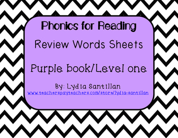 Phonics for Reading- Level One- Review Words