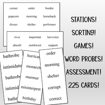 Phonics for Reading Level Two Challenge Word Flashcards/Word Probes