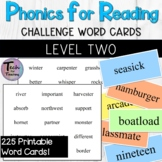Phonics for Reading Level Two Challenge Word Flashcards/Wo