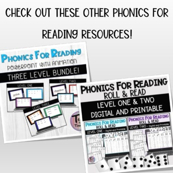 Phonics for Reading Level Two New Word Flashcards/Word Probes