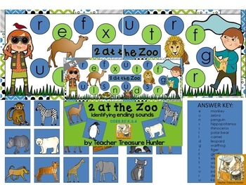 Phonics game •Identifying ending sounds *2 At the Zoo ~K-1