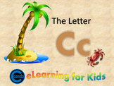 Phonics activity and learning game featuring the letter Cc