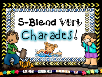 Phonics in Action! S-blend Verb Charades Game