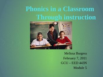 Phonics in a Classroom