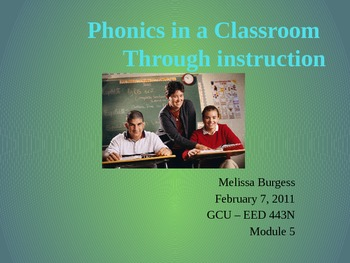 Phonics in a Classroom
