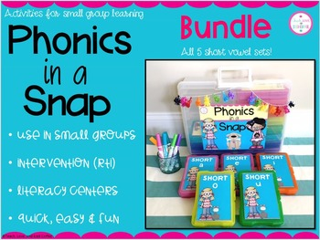 Phonics in a Snap! Short Vowel BUNDLE