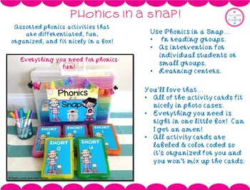 Phonics in a Snap! Small Group Activities (Short e)