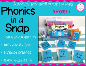 Phonics in a Snap! Small Group Activities (Short i)