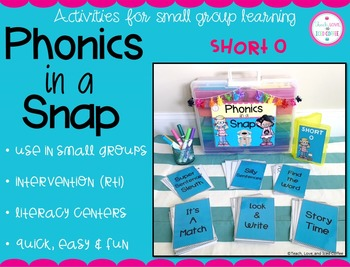 Phonics in a Snap! Small Group Activities (Short o)