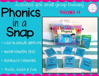 Phonics in a Snap! Small Group Activities (Short u)