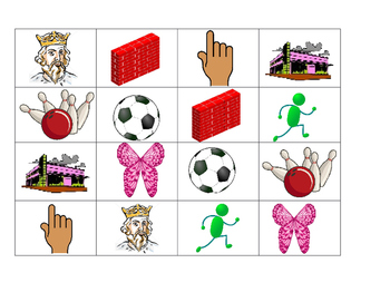 Phonics -ing and -all Bingo Cards