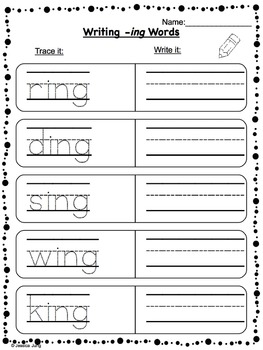 Phonics: -ing, -ang, -ong, -ung Word Work--Includes BINGO Game!
