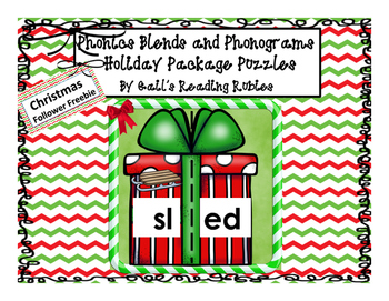 Phonics Blends and Phonograms Holiday Package Puzzles