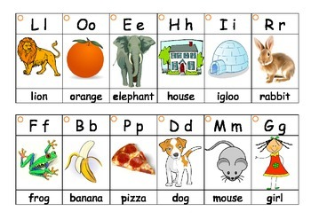 Phonics letter sound flash cards