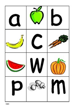 Phonics letter sounds matching cards