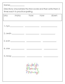 Phonics level 1 unit 10: 4-5 sounds, suffixes and trick words