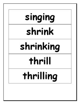 Phonics level 1 unit 14- Review of word structure