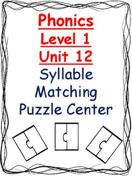 Phonics level 1 unit 12 Syllable Matching Puzzle Center