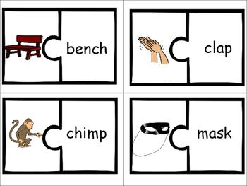 Phonics level 1 unit 9: Picture Word Match Puzzle Center