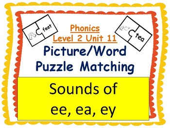 Phonics level 2 unit 11: Sounds of ee, ea, ey picture/word