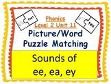 Phonics level 2 unit 11: Sounds of ee, ea, ey picture/word matching Center