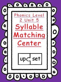 Phonics level 2 unit 5: syllable matching puzzles center