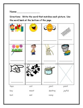 Phonics level 2 unit 12- vowels teams oi, oy, and trick words *updated*