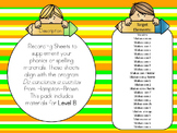 Phonics or Word Work Sheets in Spanish for the Bilingual C