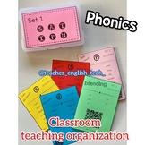 Phonics organization for teaching - SET 1