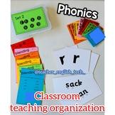 Phonics organization for teaching - SET 2