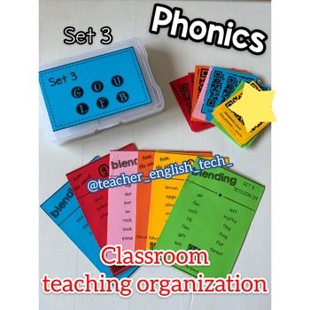 Phonics organization for teaching - Set 3