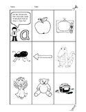 Phonics phase 1 initial letter sounds recognition sheets