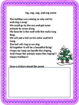 Phonics poems