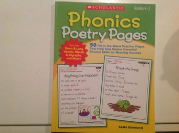 Phonics poetry pages