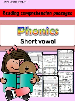 Phonics reading comprehension passages and activities Short Vowel