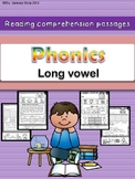 Phonics reading comprehension passages and activities Long vowel