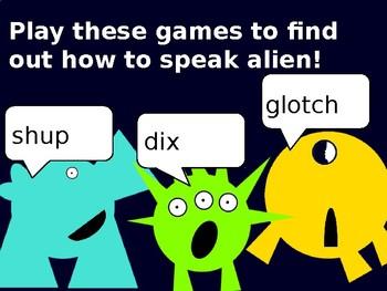 Phonics screening aliens